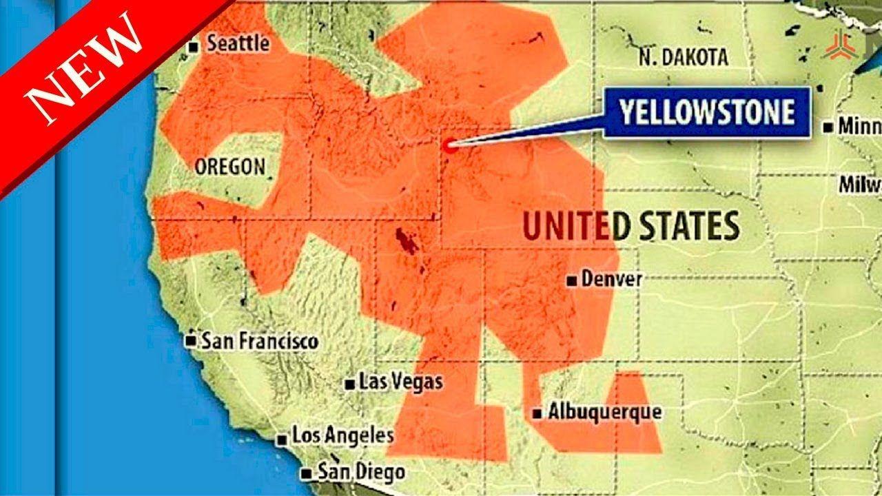 Yellowstone eruption fallout map.