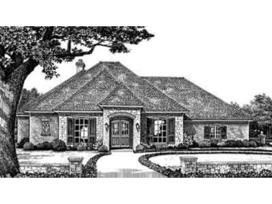 European Style House Plan 3 Beds 2 5 Baths 2238 Sq Ft Plan 310 243 House Plans Monster House Plans Floor Plan Design