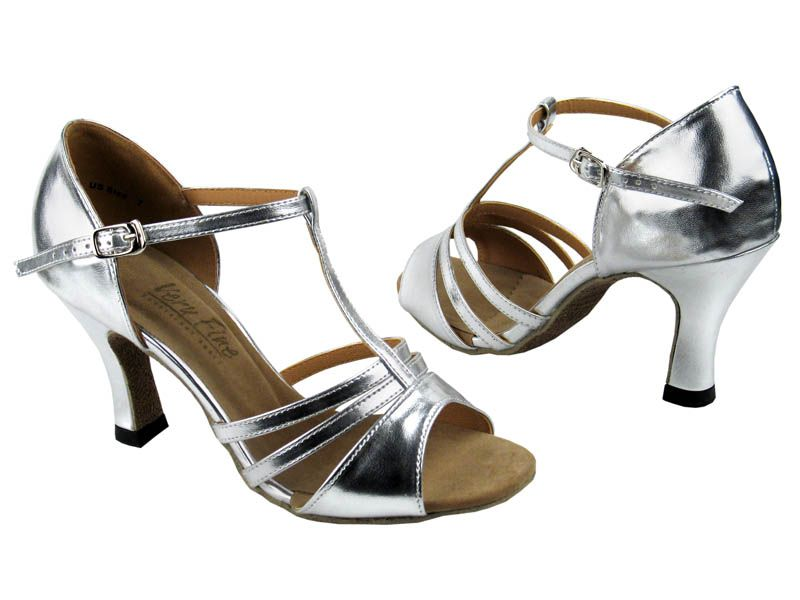 t strap heels silver | Home ♢ Ladies Tango Shoes ♢ T- Strap ...