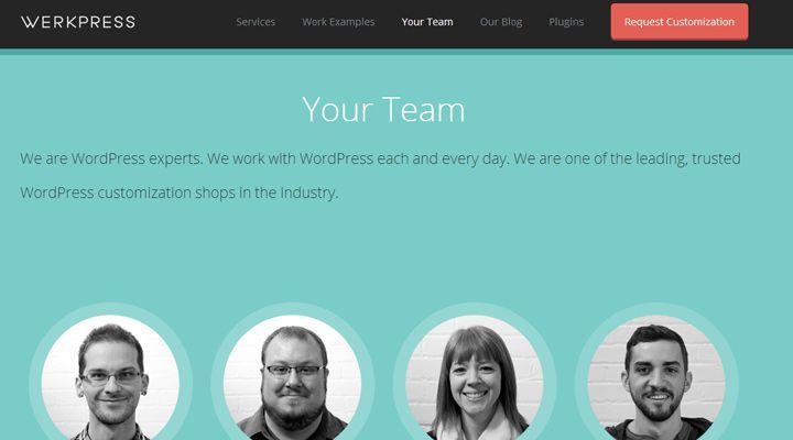 Werkpress Website Layout Team Members Design Inspiration Webpage Layout Web Layout Teams