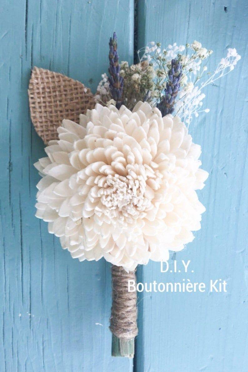 Rustic Lavender Collection DIY Boutonnière or Wrist