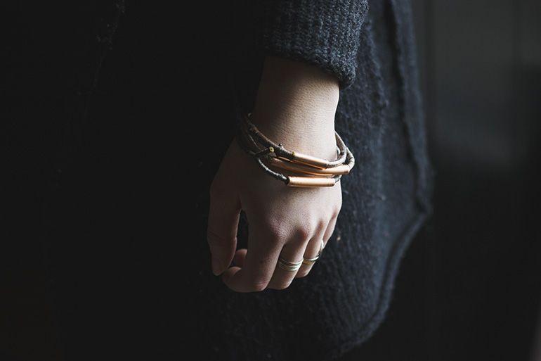 DIY Twig & Copper Bracelets @The Merrythought