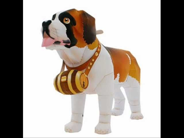 Dog Paper Craft Papercraft Templates And Create Your Own
