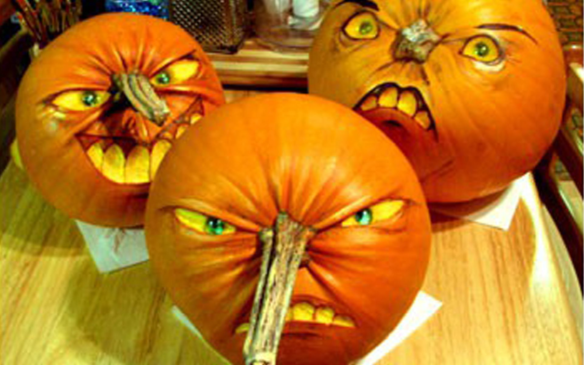 Cool Pumpkins Time for the Holidays Halloween