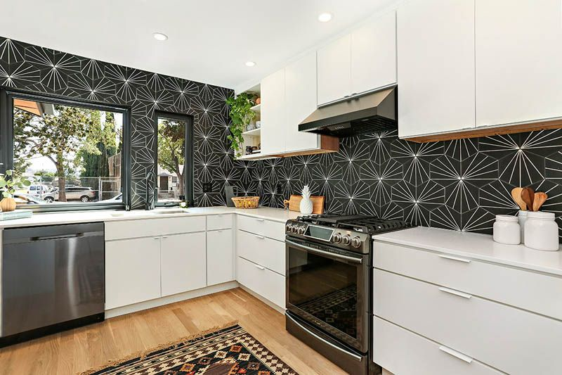Best Midcentury Modern In Perfect Black And White Kitchen 400 x 300