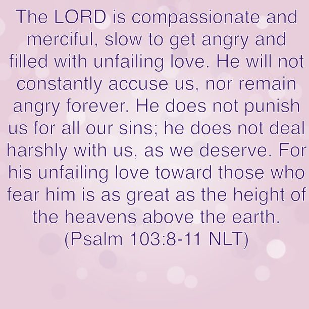 Bible Verse: Psalm 103:8-11 (GOD's unfailing love!!!)   Read