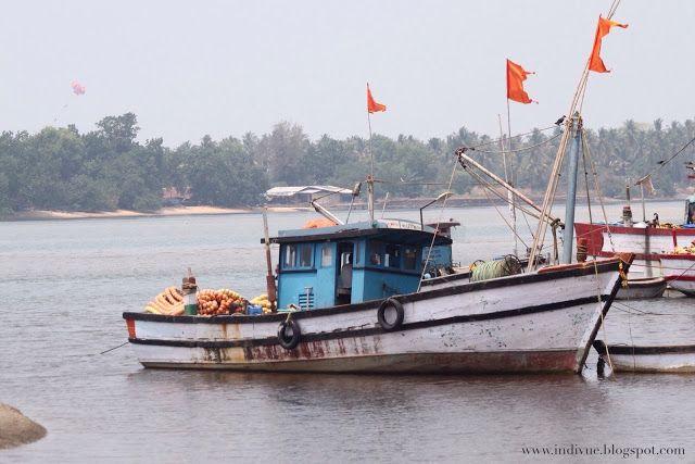 Betul Beach Etelä-Goassa, Intiassa