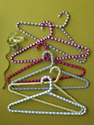 Cozied Hangers From Lion Brand Hanger Crafts Wire
