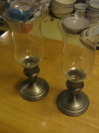 $5 pewter candle holders
