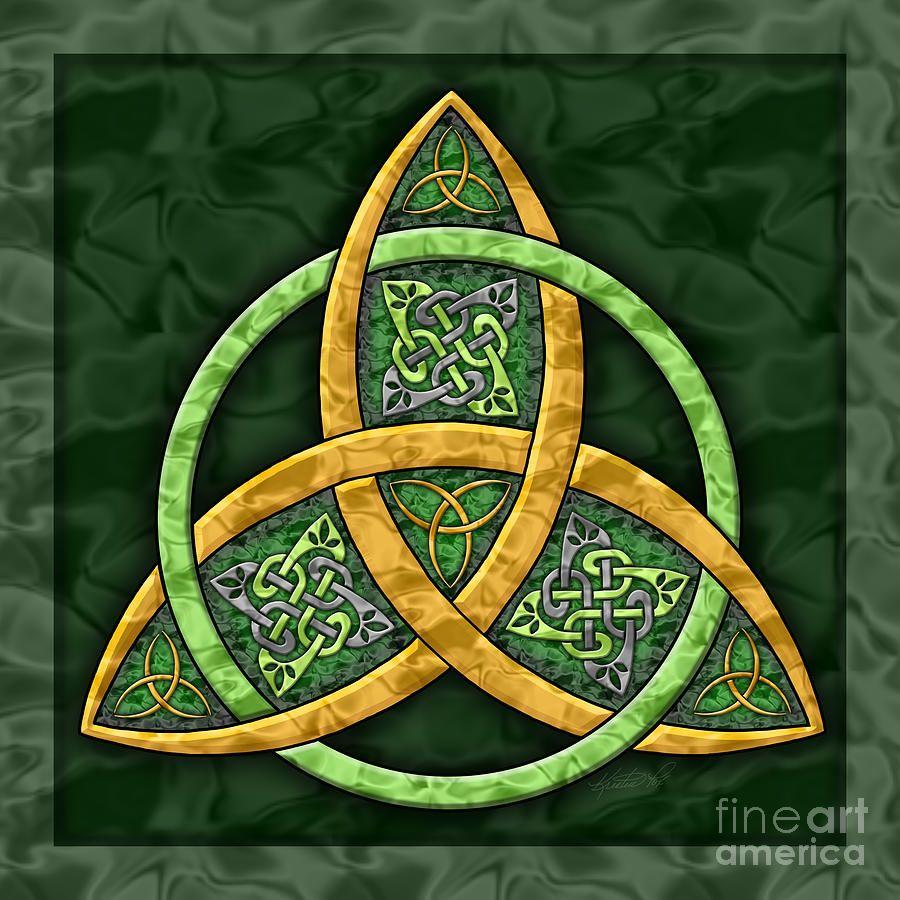 Celtic Symbol Art Prints Cross Spiral Triquetras