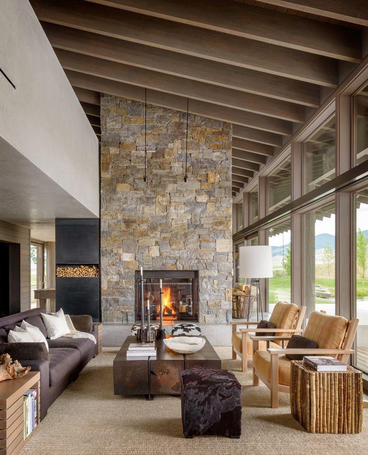 Montana Ranch House By Suyama Peterson Deguchi Ranch House Rustic Living Room Rustic House