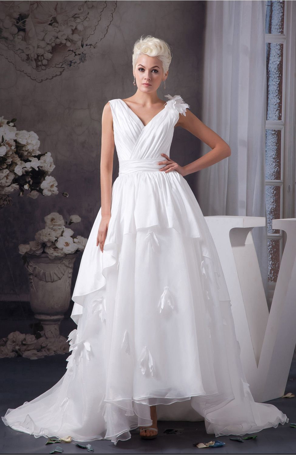 Allure Wedding Dress Inexpensive Tea Length Fall Country