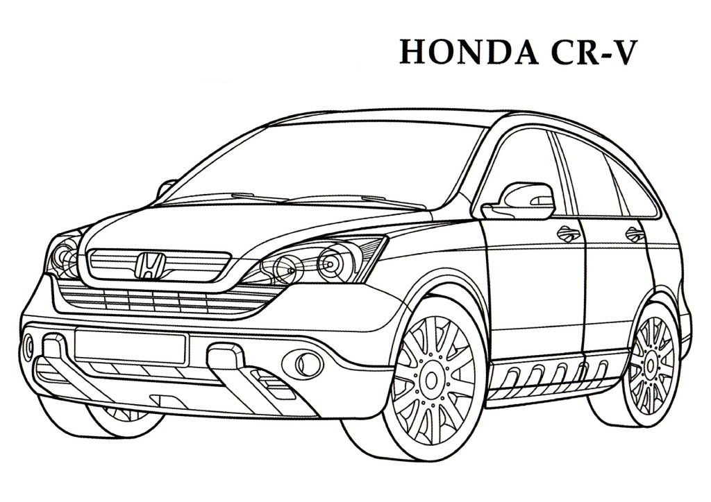 honda coloring pages and print for free