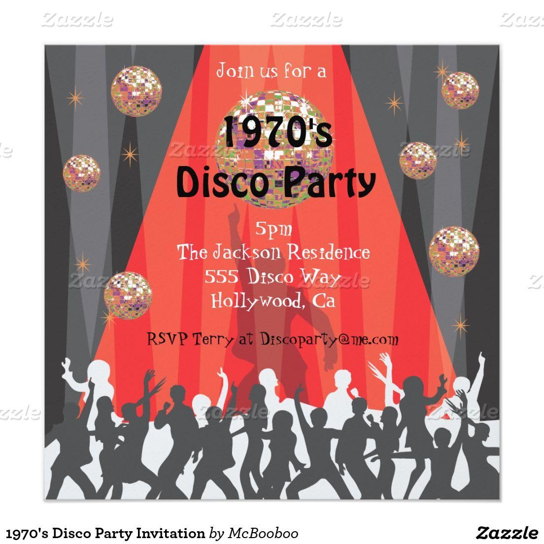 Magnificent 70s Party Invites Model - Resume Ideas - megansmission.info