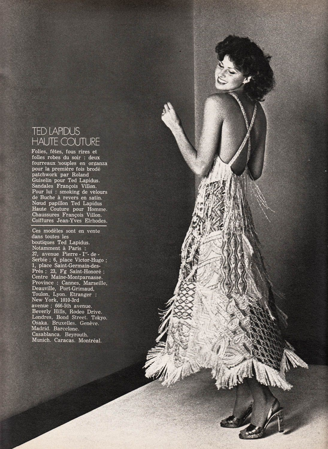 Ted Lapidus Couture, ELLE France - Sept 1 1975, Photographed by Dick  Balarian dcec854edf3