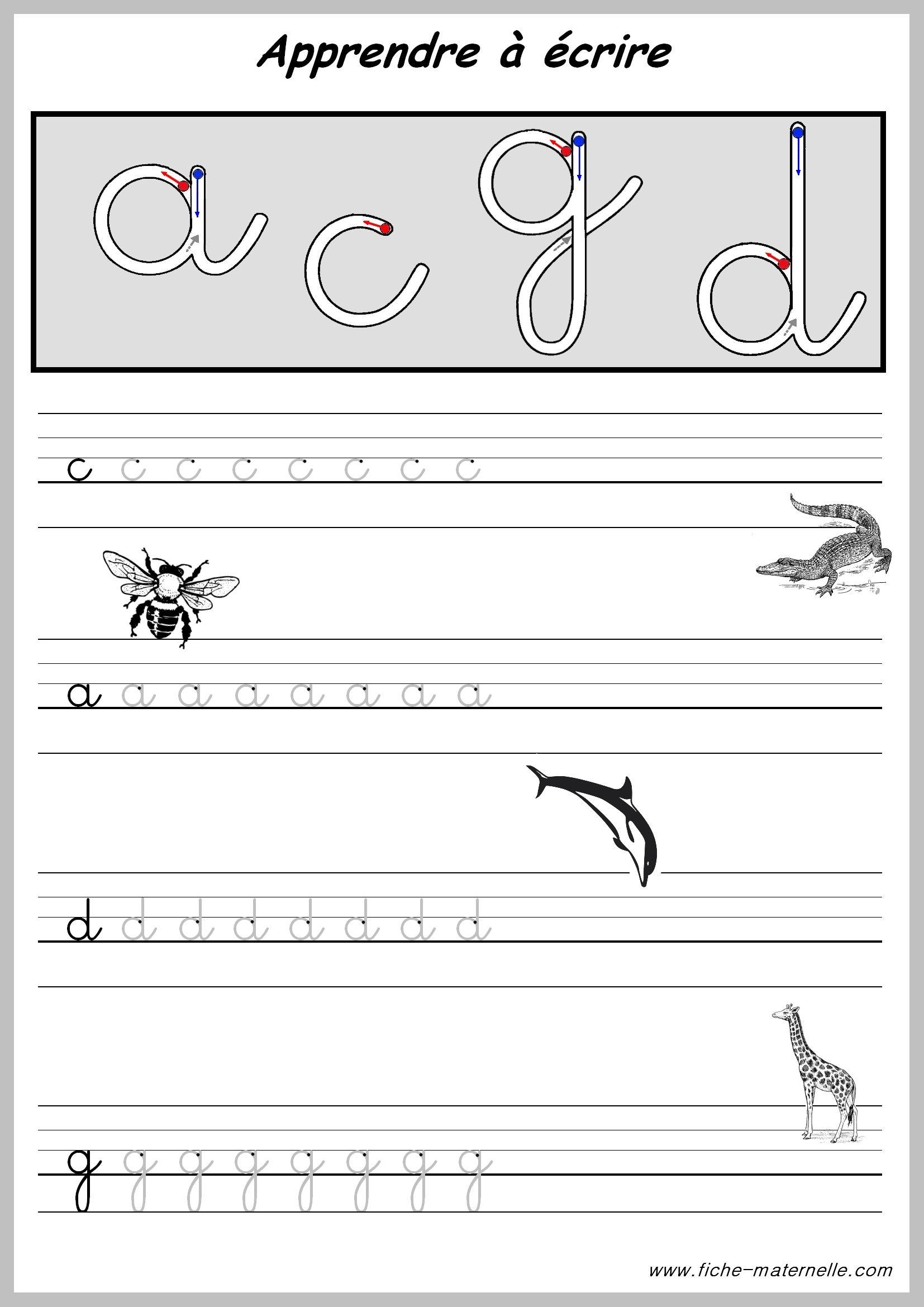 exercices pour apprendre a ecrire
