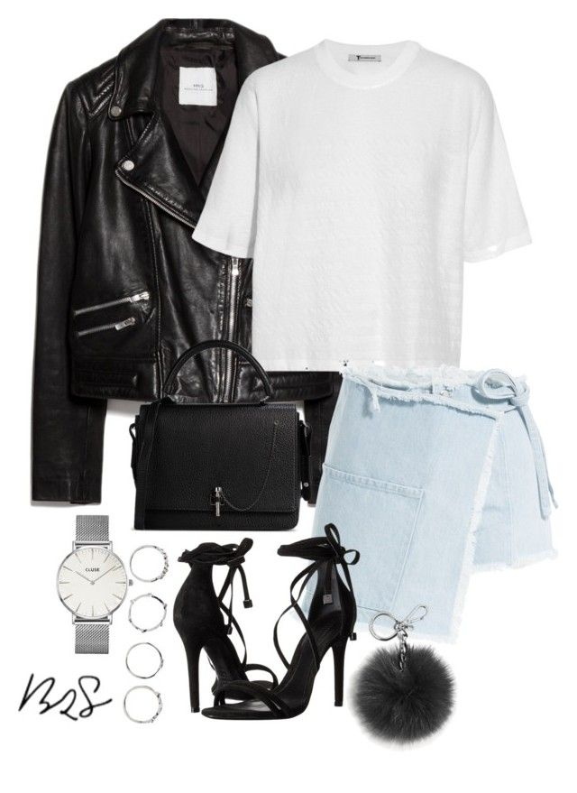 """#697"" by blendingtwostyles ❤ liked on Polyvore featuring MANGO, T By Alexander Wang, Sandy Liang, Schutz, Carven, Boohoo, CLUSE and Michael Kors"