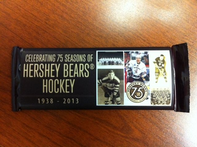 October 20, 2012 Giveaway:  75th Season wrapped HERSHEY chocolate bar, courtesy of The Hershey Company (all fans)