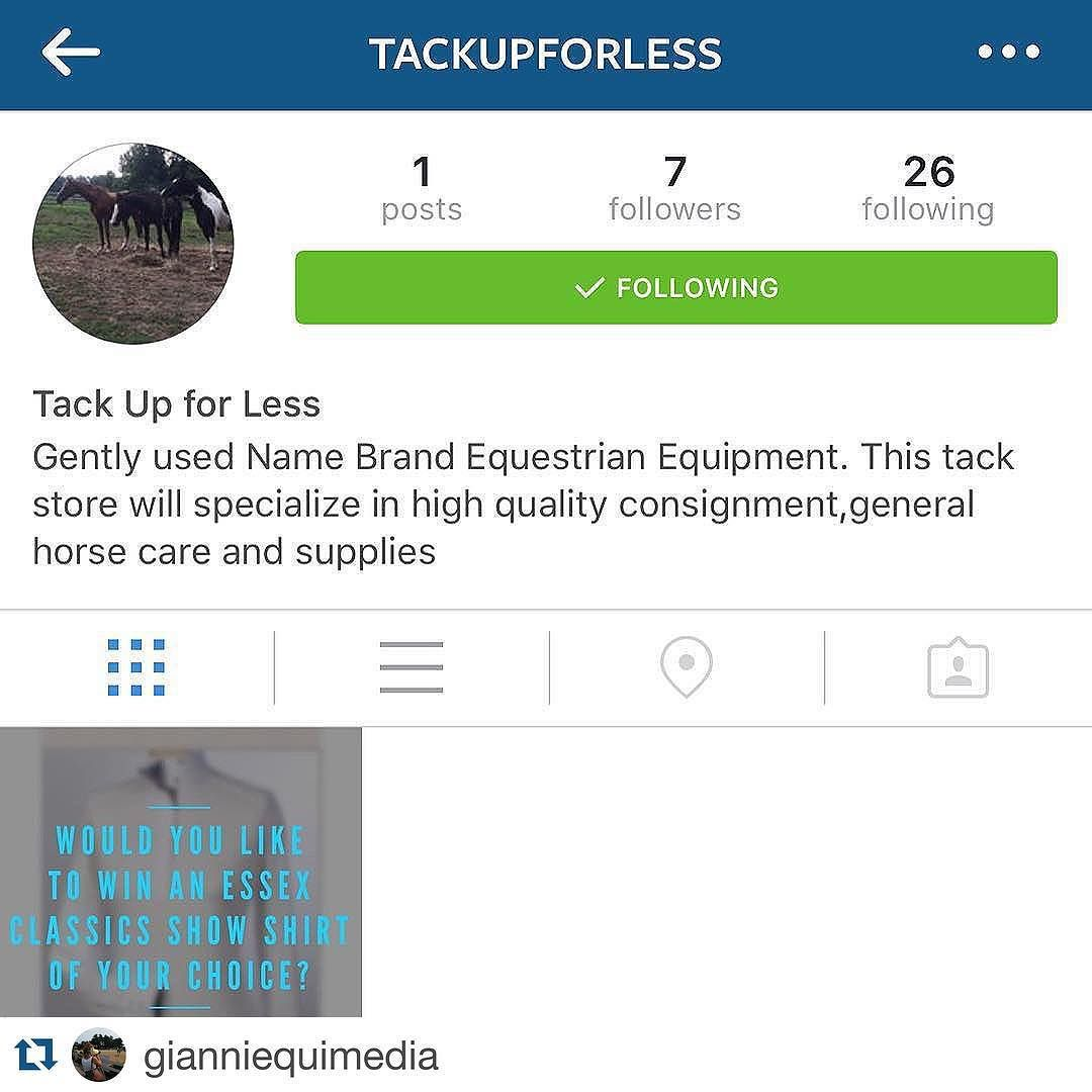 #Repost @gianniequimedia .  If you are from Chester County PA or if you would enjoy posts from a brand new tack shop that will carry only quality consignment then follow @tackupforless ! #comingsoon #chestercounty #equestrianstyle Spend Less On Tack & Spend More Time In The Saddle
