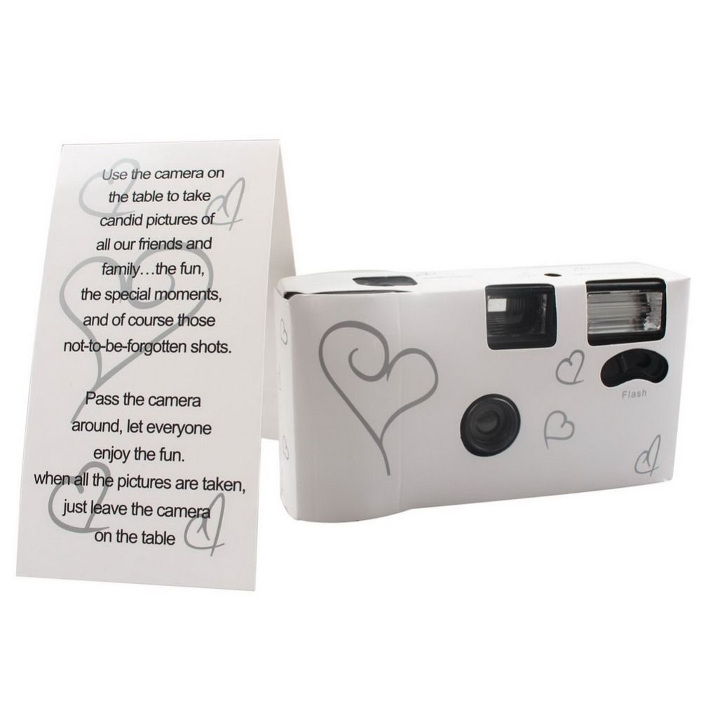 Cheap Disposable Wedding Cameras Buy Quality Camera Directly From China Suppliers Silver Funny Heart