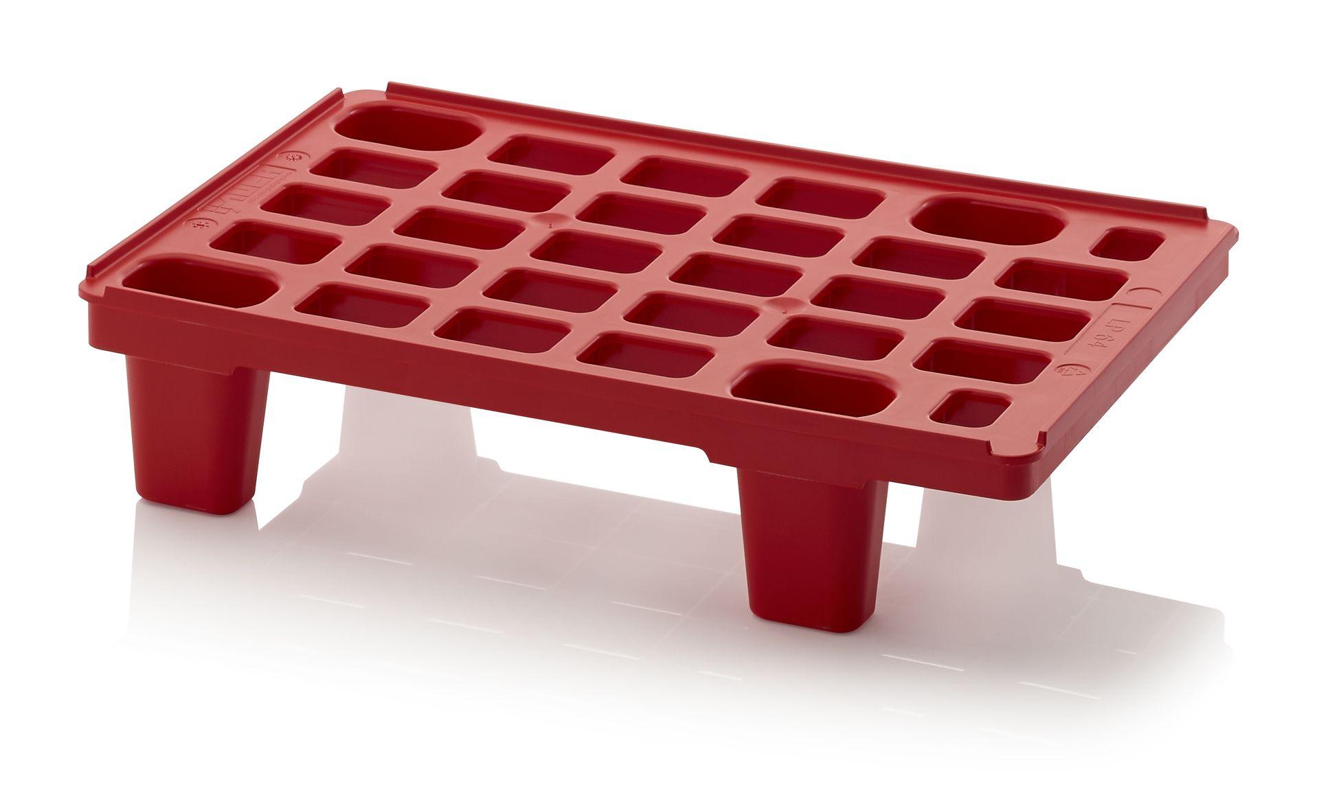 Lightweight pallets with retaining edge LP 64