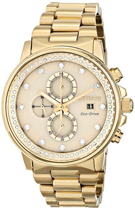 5fba46e73 Citizen FB3002-53P - Reloj para mujeres, correa de acero inoxidable color  dorado