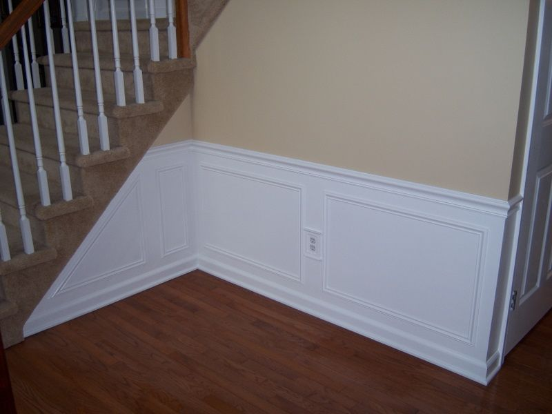 Hall And Stairway Trim Work   Low Maintenance Shadow Boxes   All About The  House