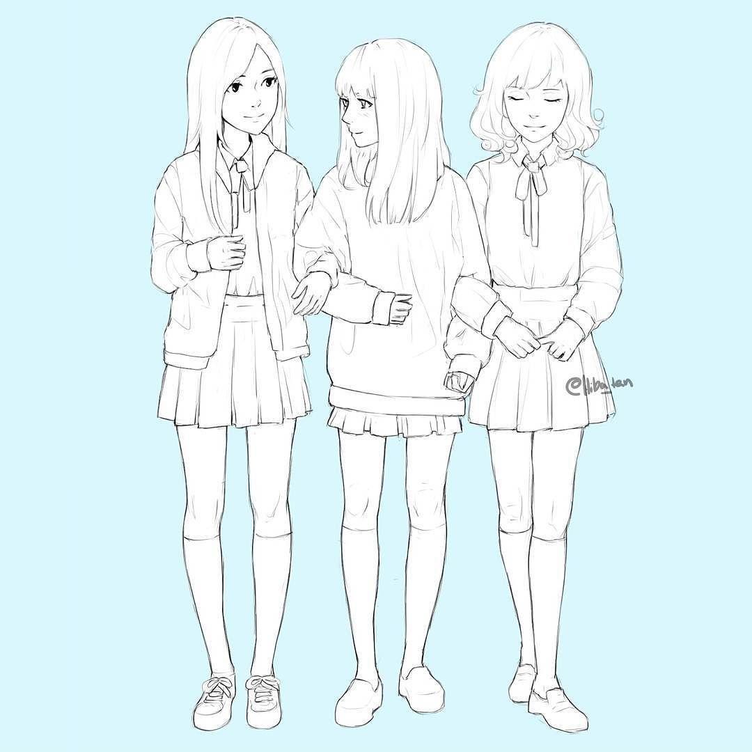 Hobby Artist On Instagram School Girls Art Sketches Girls Artist Drawing Draw Manga Anime