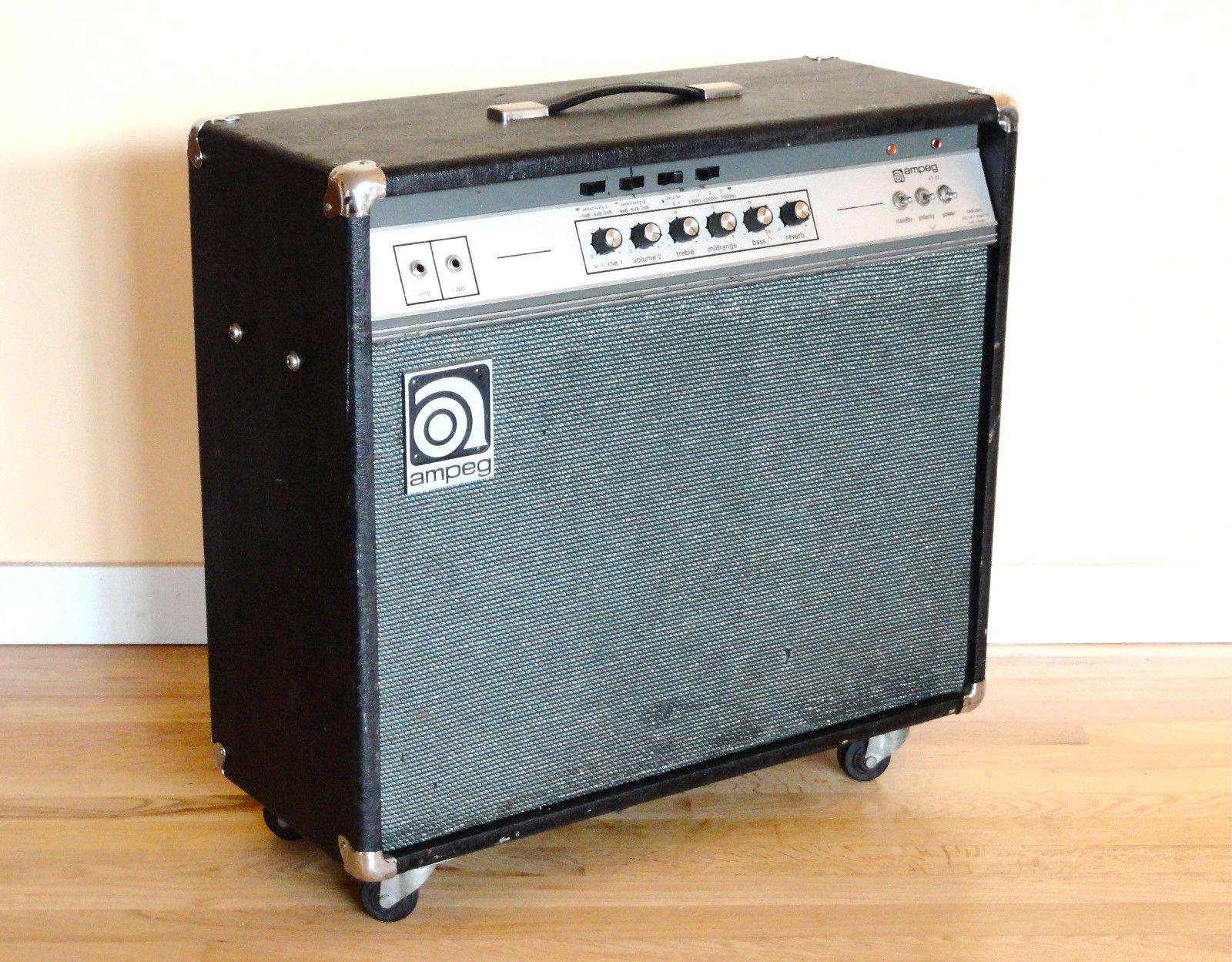 1973 ampeg vt22 2x10 100w music gear guitar amp pedalboard vintage guitars. Black Bedroom Furniture Sets. Home Design Ideas