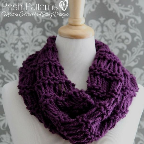 Lacy Infinity Scarf Free Knitting Pattern Modern Crochet Patterns
