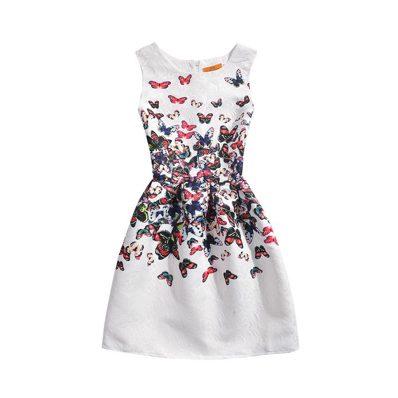 407ee52dd61 New Teenage Girls Dress Kids Printing Summer Dress Slim Sleeveless Princess  Sofia Dress Kids Clothes For Girls 6 7 8 9 Year Olds