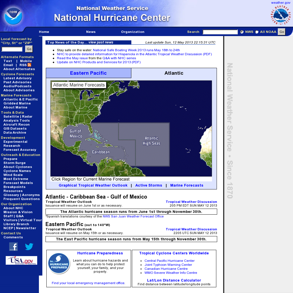 Noaa National Hurricane Center Website Http Www Nhc Noaa Gov Snapped On Snapito National Hurricane Center Marine Recon Hurricane