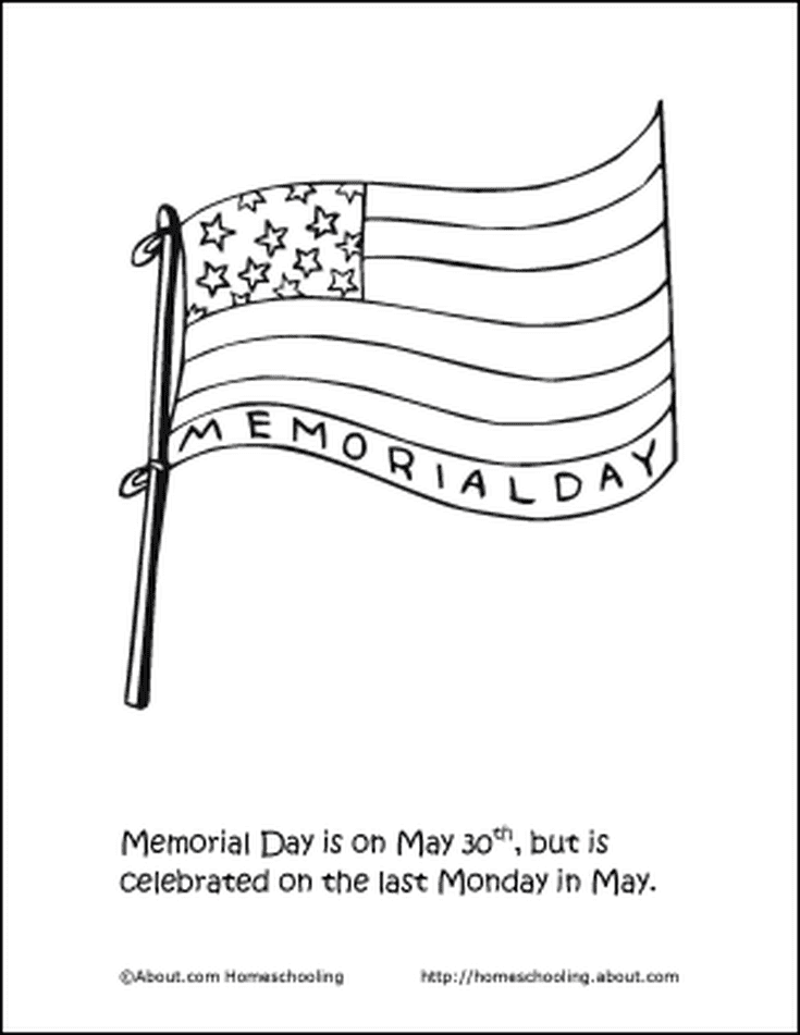 Learn About Memorial Day With Free Printables Coloring Page