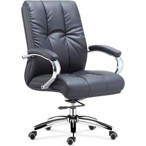 Chicago Gas Lift Faux Leather Office Chair In Black