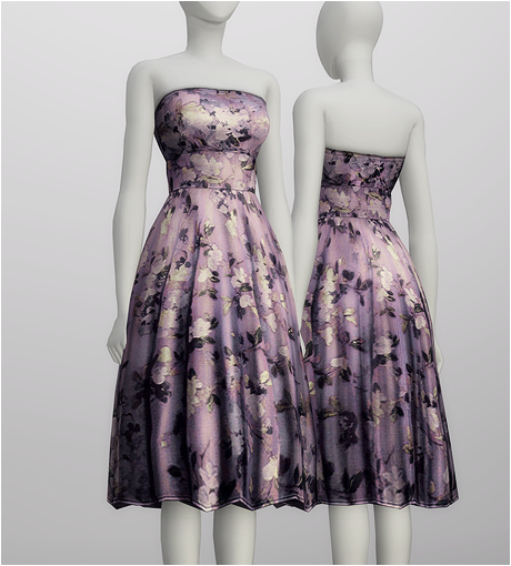 S4 _Strapless Floral embroidered silkblend dress by