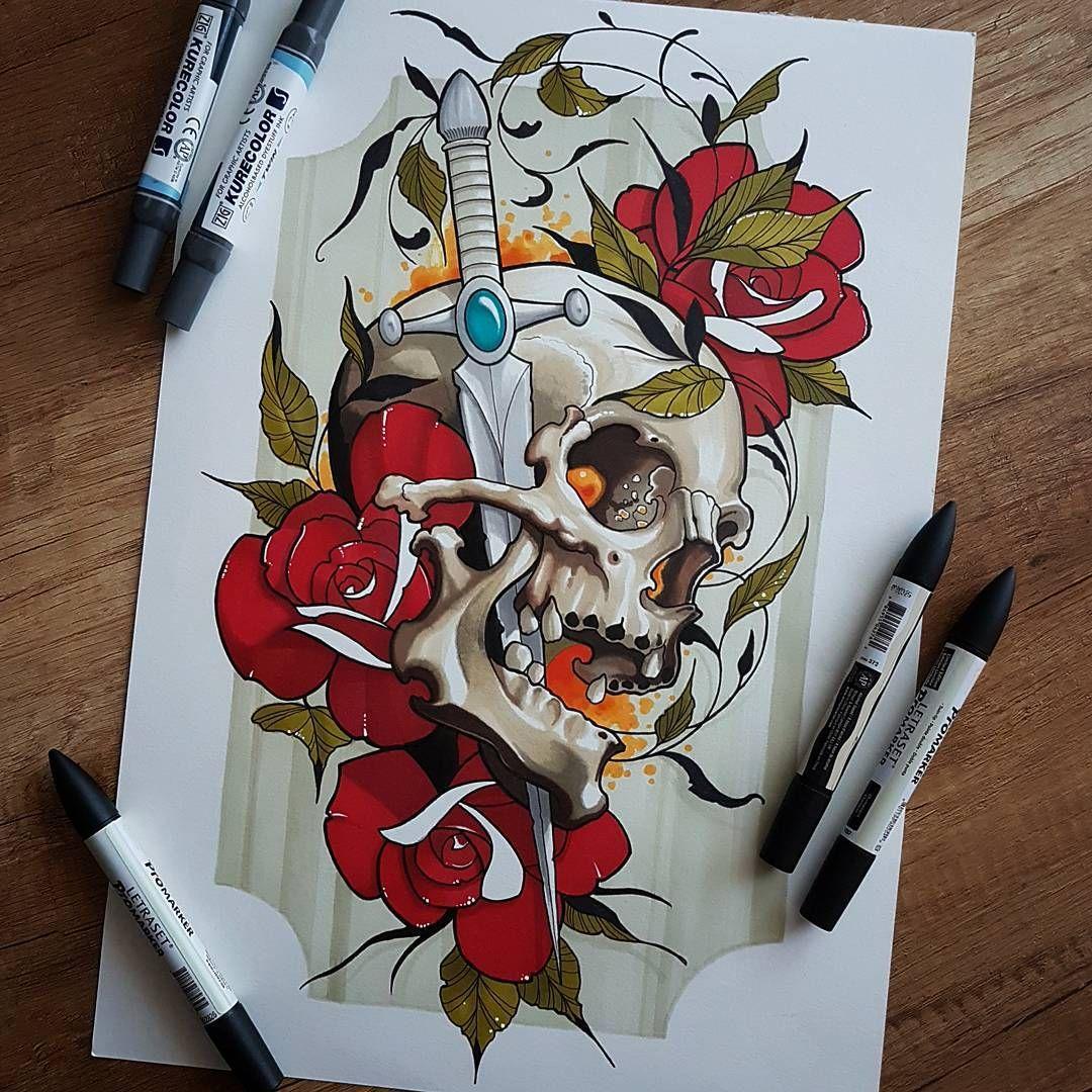 Новости Черепа зомби horror Pinterest Tattoo, Neo