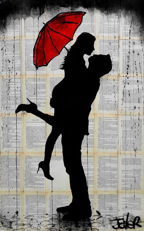 Loui Jover Ink 2014 Drawing November RainArt LOVE Silhouette