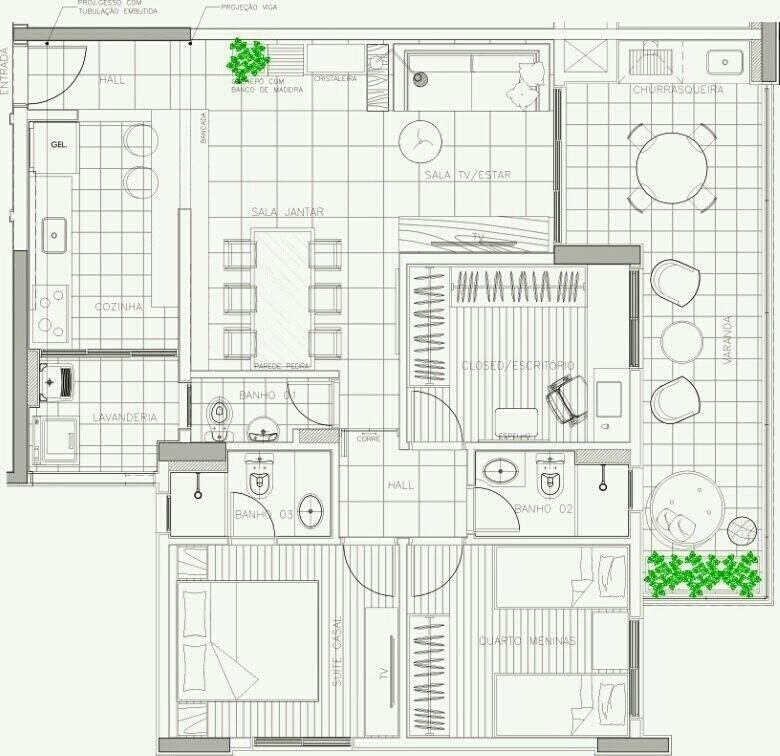 Apartamento Mooca Layout