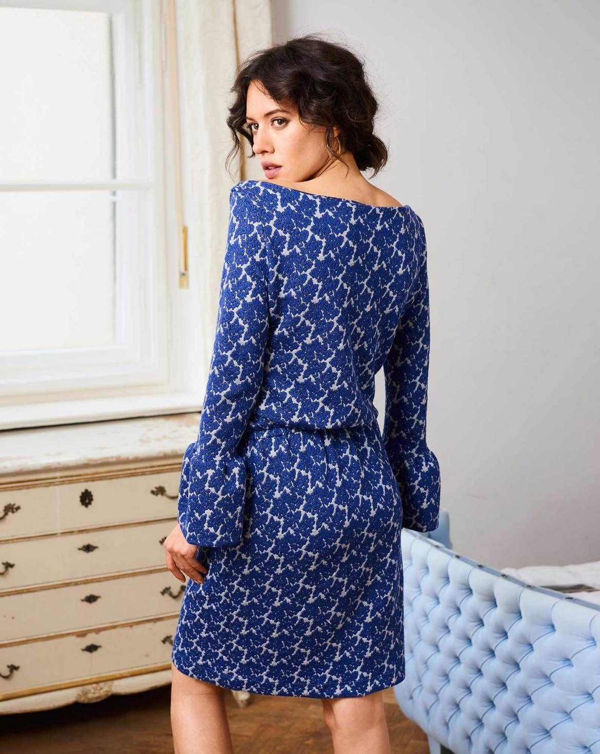 burda style, Schnittmuster, Jersey-Kleid H/W 2017 #4D, Klassisch mit ...