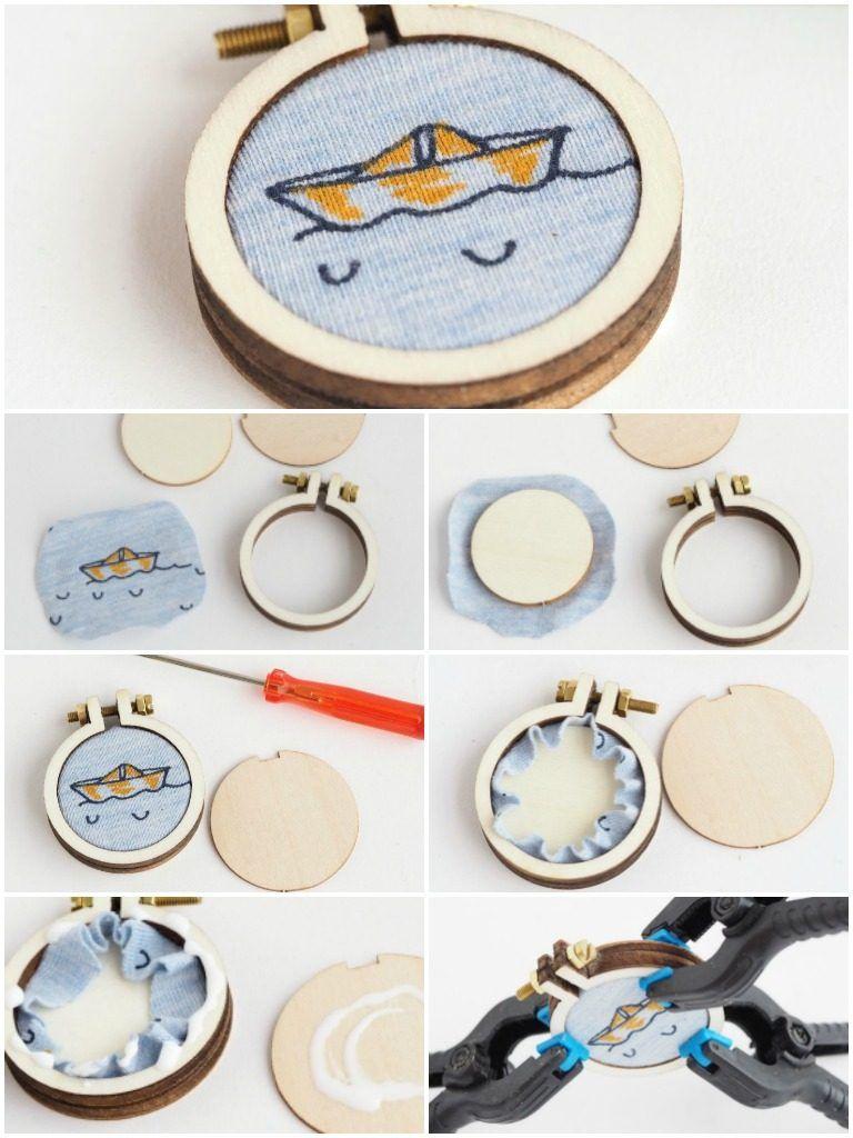 Stickrahmen Basteln mini-stickrahmen poshy - eine kleine anleitung | diy | pinterest