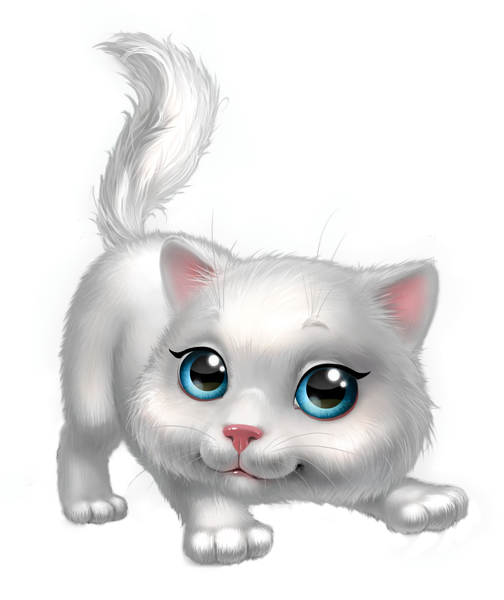 Cute White Kitten Png Clipart Image Cute Animals Cat Art White Kittens