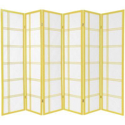 "Oriental Furniture 70"" x 84"" Double Cross Shoji 6 Panel Room Divider & Reviews | Wayfair"