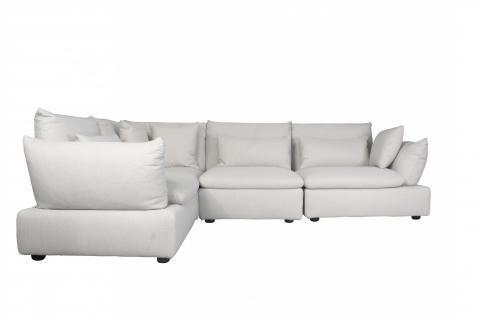 Kira L Shape Sofa Linen Block Chisel Mebel