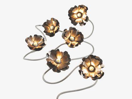 Helena silver metal silver flower garland light habitatuk