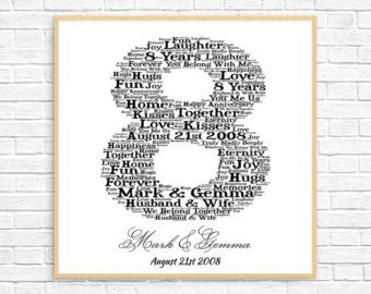 Personalised 50th Anniversary Gift Word Art Printable Gift