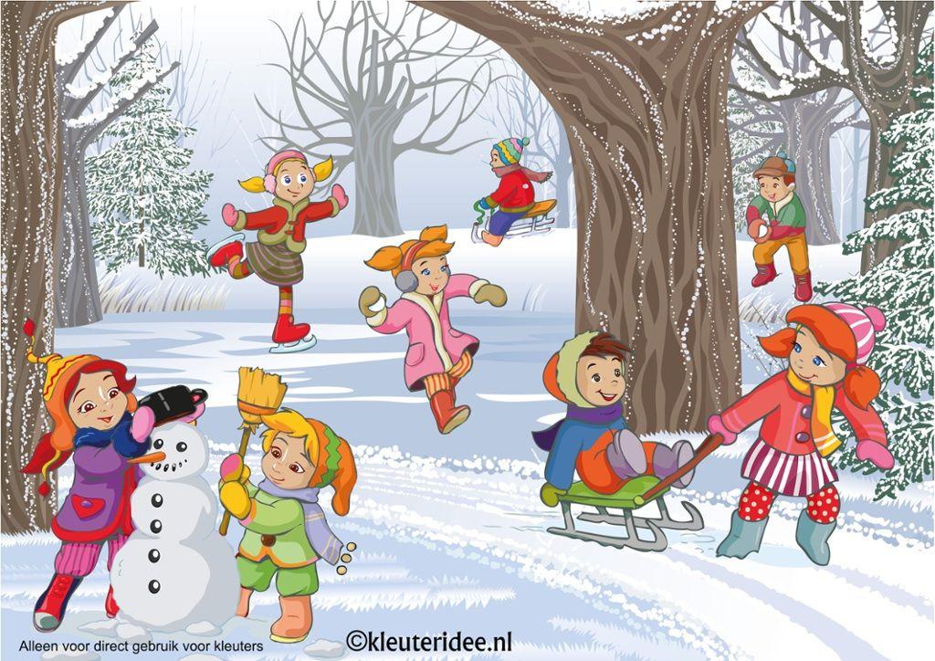 Interactieve Praatplaat Thema Winter Voor Kleuters Met Veel