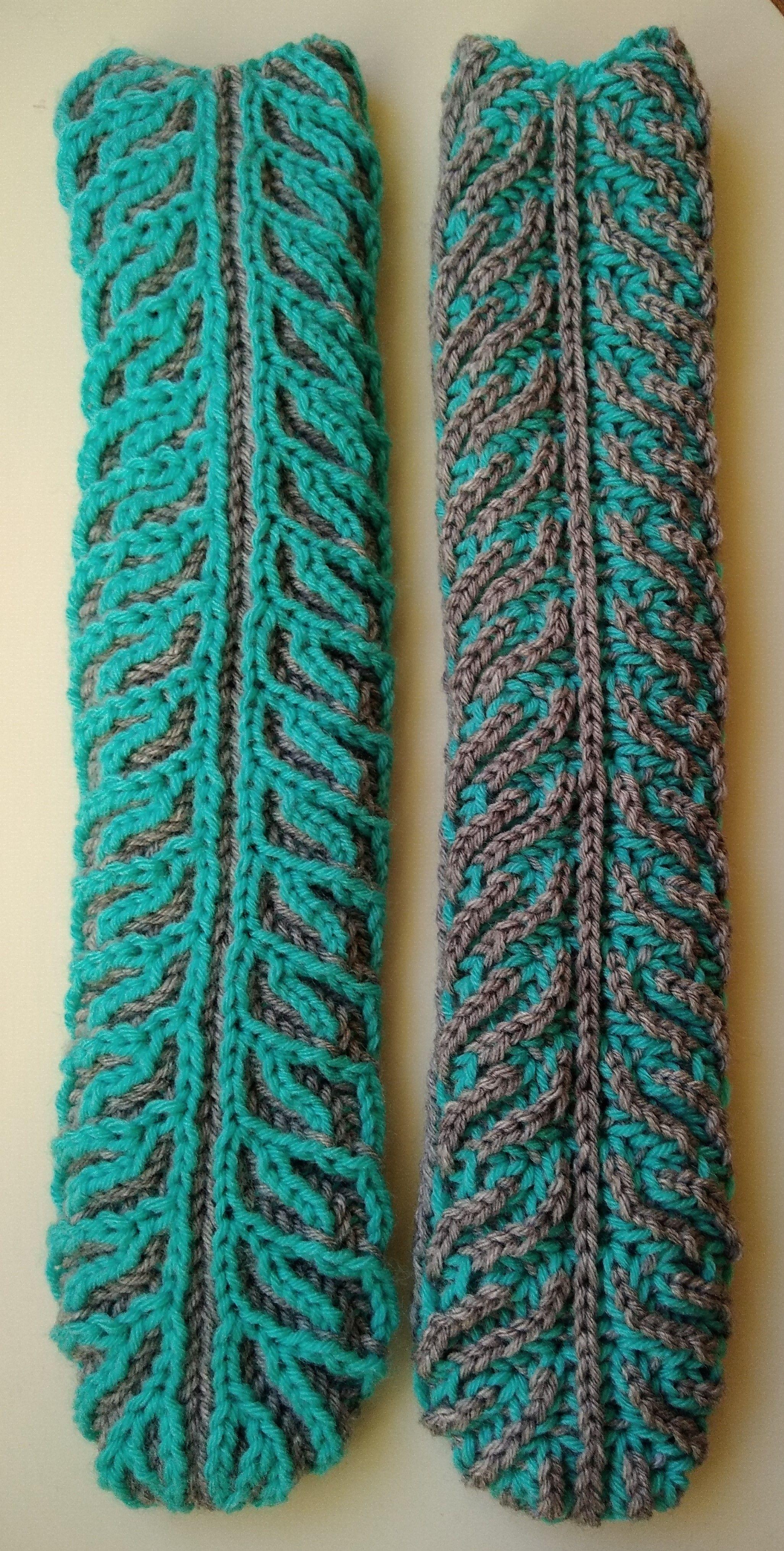 Brioche tube socks (braid) Construction: in the round (magic loop ...