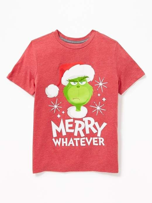 89e15e88618f Old Navy Dr. Seuss  The Grinch Merry Whatever Tee for Boys ...
