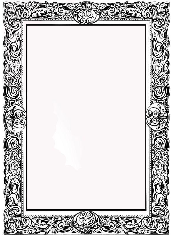j 39 dessine des cadres de style baroque la planete de. Black Bedroom Furniture Sets. Home Design Ideas