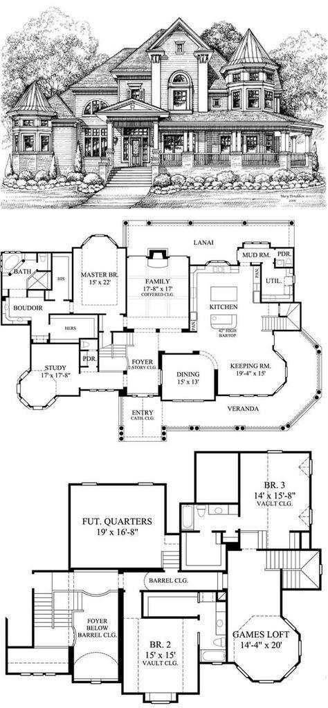 Pin By Mama On Floor Plans To Build House Plans Mansion Victorian House Plans House Blueprints